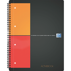 ACTIVEBOOK OXFORD A4+ 160 PAGES PERFORE QUADRILLE 5X5MM