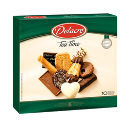 BOITE TEA TIME DELACRE BISCUITS SUCRES ASSORTIS 200G